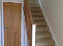 Installation of new banisters, decoration of hall stairs landing and bedroom.