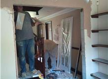 Installation of internal double doors.
