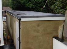 Garage renovation new base, roof and brickwork.