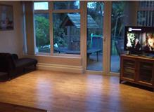 New patio, decorating and laminate flooring.