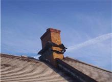 chimney with lead dressing