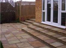 patio,and steps..