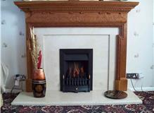 Gas fire fitted.