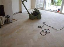 SANDING OF NEWLY INSTALLED OAK BLOCK FLOOR