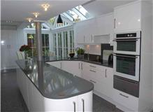 High Gloss White Kitchen  orangery style