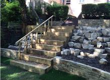 Softwood sleeper steps