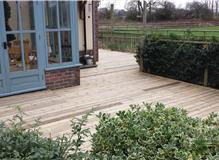 Wrap around decking