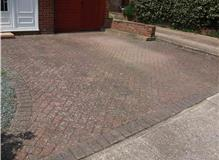Block Paved Driveway Before Jet Washing