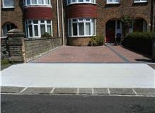 Concrete Drop Kerb With Block Paved Drive