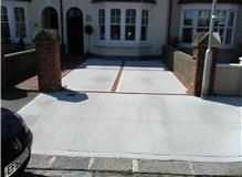 Concrete Drop Kerb, And Concrete Drive With A Brick Edge