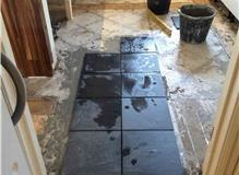 Customer in Bedford - Slate tiled kitchen floor.