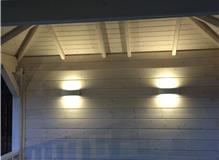 exterior led lighting install,crowthorne,berkshire