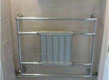 Boiler installation, power flush and radiator.