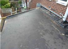 Renewal of felt flat roof