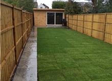fence and turfing walton on thames