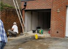 Garage built, door to be fitted