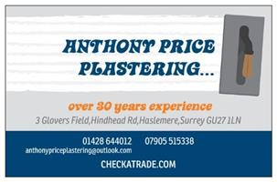 Anthony Price Plastering