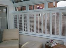 Shutters installed in to conservatory