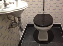 Guest toilet at Clapham South, London SW12