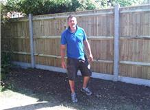 Remove privet hedge and replace with closeboard fence with concrete posts and gravel boards.