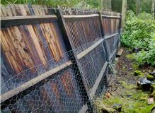 3 x Fence Posts Snapped