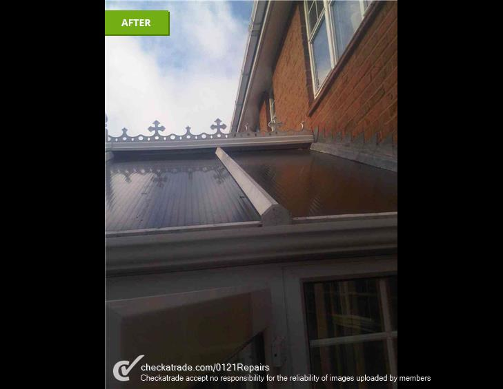 Replace slipped conservatory roof panel