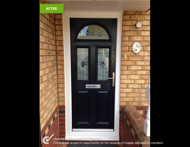 New Black composite door fitted Walmley