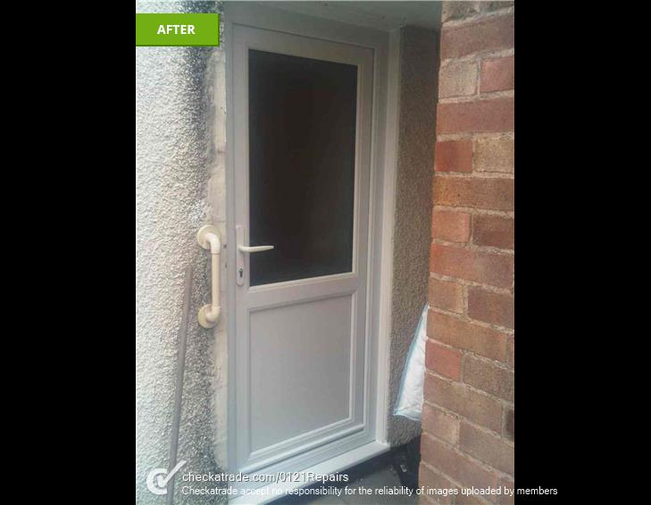 Replace back door upvc and porch window upvc