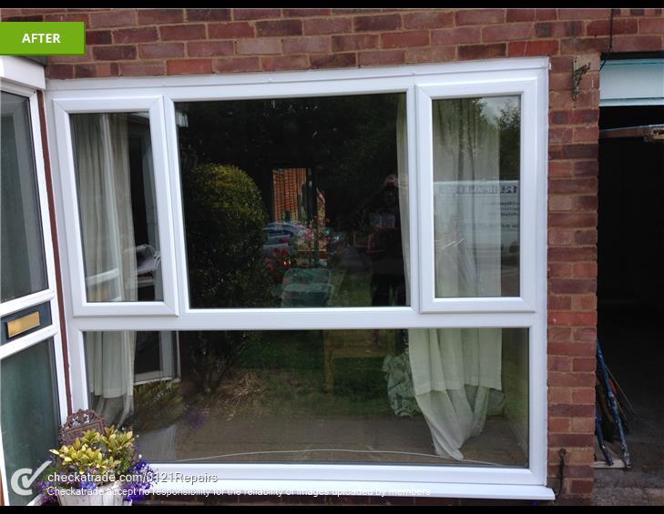 Large Upvc window Replaced