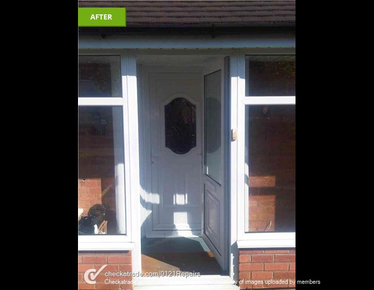 Upvc front door fitted