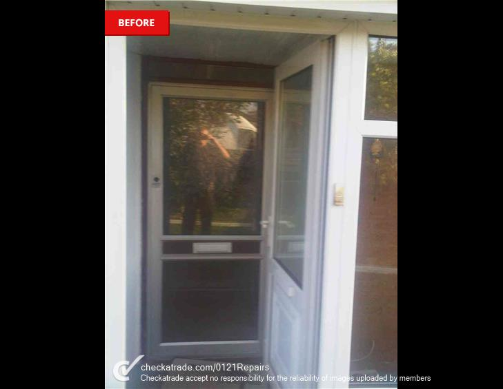 Front upvc door fitted