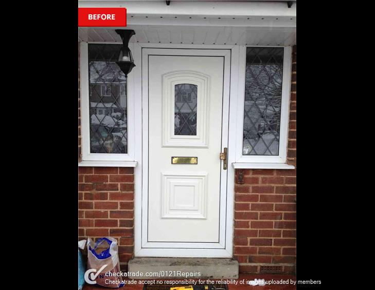 Replaced 1 front door for composite.