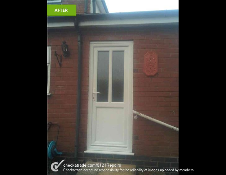 Replacement upvc rear door Marston Green
