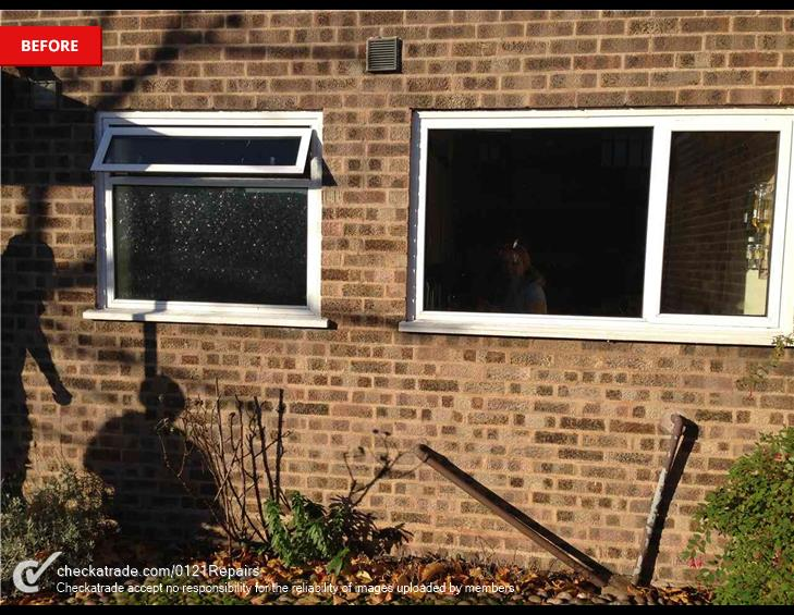 Replace x3 window for upvc.