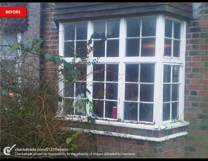 Replaced 1930s windows.