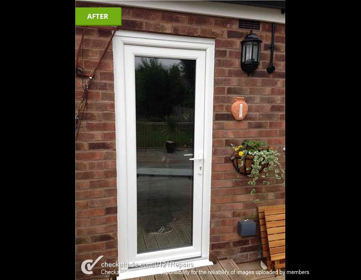 Replace rear door to UPVC Sutton Coldfield.
