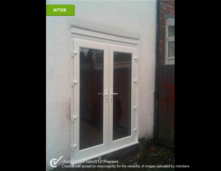 Fit 1 set of UPVC French doors.