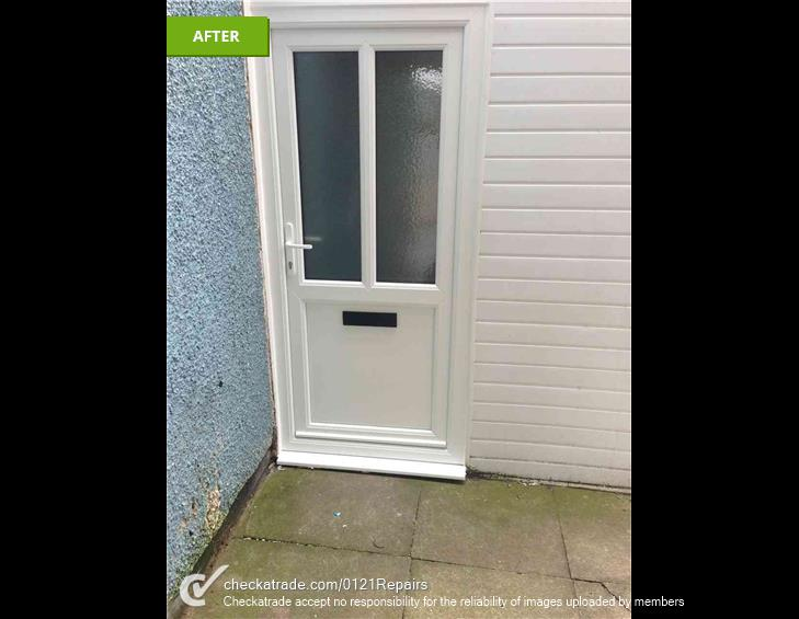 Supply and fit secure front door.