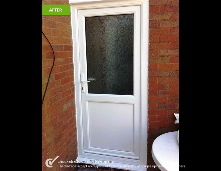 Rear Upvc door fitted Northfield