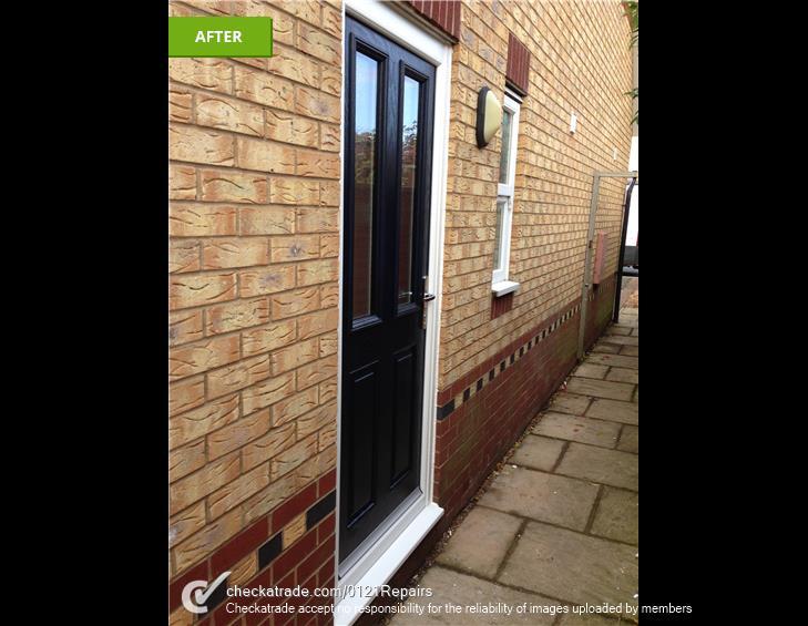 Composite rear door fitted Walmley