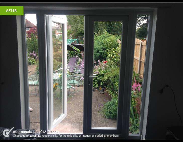 Replacement upvc french doors