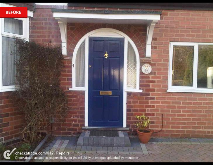 Befor composite arched door