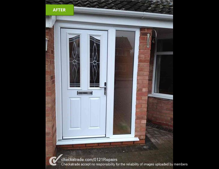 Replaced front door from UPVC to composite.