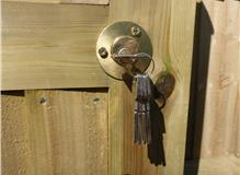 HEAVY DUTY GATE LOCK FRONT VIEW