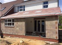 Beautiful rear extension rapidly taking shape, kitchen to be fitted next...