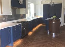Ashbourne Blue & White solid wood painted