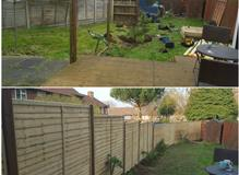 new fence and posts fitted