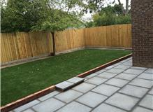 Turfing, Patio, Step and Retaining Brick Wall