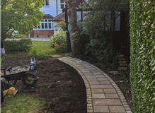 Curved path and cobble boarder