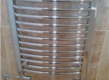 Chrome Towel Rail with Chrome Pipe Work